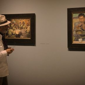 Spanish expressionist painter Jorge Rando visited the exhibition