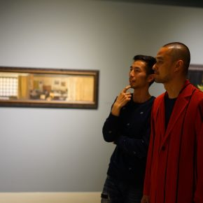Writer Feng Tang visited the exhibition