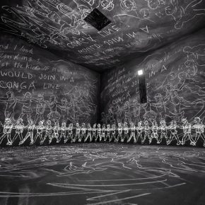 Hsin-Chien Huang & Laurie Anderson, Chalkroom, 2017; Computer, VR Installation, Projector, Dimension variable