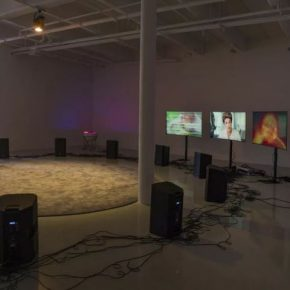 Haroon Mirza, 9-11 - 11-9, 2017; Installation, sound; Installation view at Lisson Gallery, New York, USA 2017; Courtesy hrm 199 and Lisson Gallery