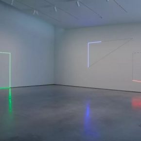 Haroon Mirza, Light works xvii, xviii, xix, 2013; Installation view at the Heptworth Wakefield Courtesy hrm 199 and the Heptworth Wakefield
