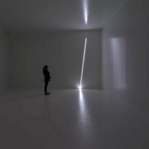 Haroon Mirza, Pavillion for Optimisation, 2015; Installation view at Museum Tlnguely, Basel, Switzerland, 2015; Courtesy hrm 199 and Museum Tinguely, Basel