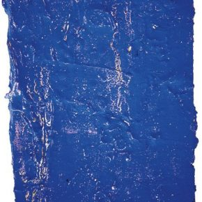 Hu Wei, Crack-Blue, 2002; Painting, 54.4x40x5.5cm