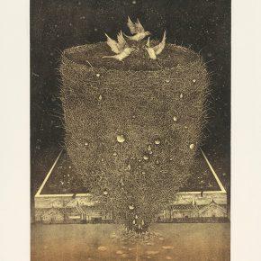 Kamruzzaman Sagar, Silk Road China, Lithography, 62x47cm