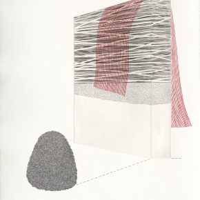 Kristina Paabus,The Tract, Intaglio+Screen Print, 56x78cm