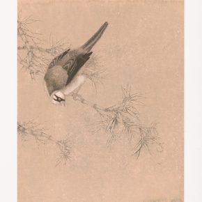 Liu Wanming, Sketch of Flower and Bird No. 1, Screen Print, 49.5×39.5cm
