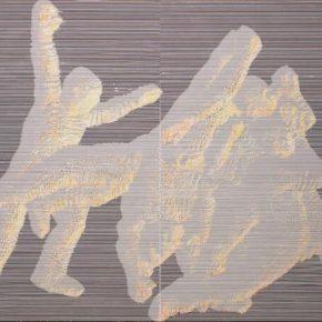 """Miao Xiaochun Gyro Dance No. 5 2019 Acrylic on linen 150x200cm 290x290 - Eli Klein Gallery presents """"Miao Xiaochun: Gyro Dance"""" in New York"""
