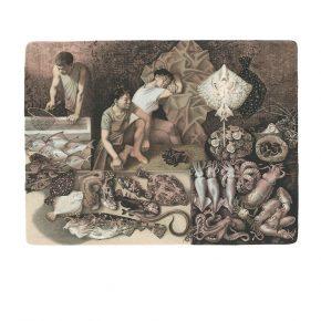 Oleg Mikhailov, Qingdao Seafood Market, Lithography, 49x65cm