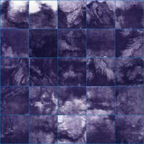 Su Xinping, Blue No.8 252×140cm(28×28cm×45) ; Etching, 2018