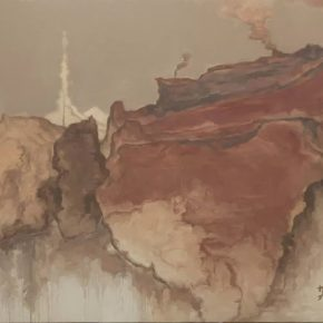 Su Xinping, Gray No.20 200x300cm; Oil on canvas, 2016