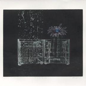 Thammasin Darunkan, That Day When It Was Raining, Intaglio, 72.5x63.5cm