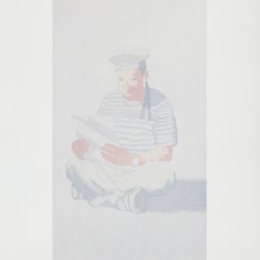Tian Liming, Sketch of a Naval Soldier, Screen Print, 55×76cm