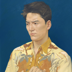 YOU Yong, Facing a Giant 38x45.5cm 2019 Oil on cavas