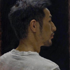YOU Yong, Self-portrait of Thirtieth Birthday 30x42cm 2018 Oil on canvas