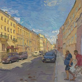 YOU Yong, Street View of St. Petersburg 65x50cm 2018 Oil on canvas