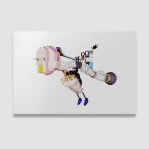 Tian Mu Flying Man 2018 Digital Print on Alu Dibond 100×150cm