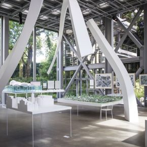 Exhibition Junya Ishigami Freeing Architecture, Fondation Cartier pour l'art contemporain; Photo by Thibaut Voisin