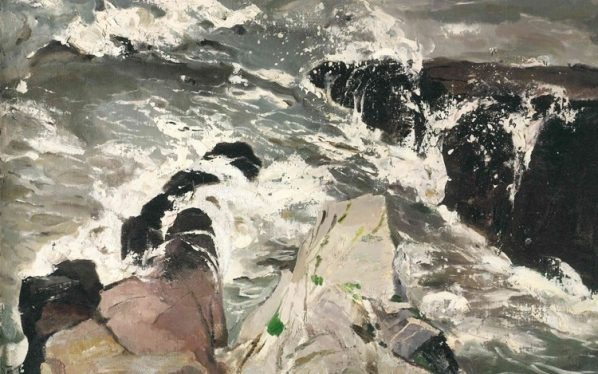 Pang Tao Breaking Waves 1979 Oil on canvas 53x75cm 598x374 - Revelation: Pang Tao Solo Exhibition will be presented by Pearl Lam Galleries in Hong Kong