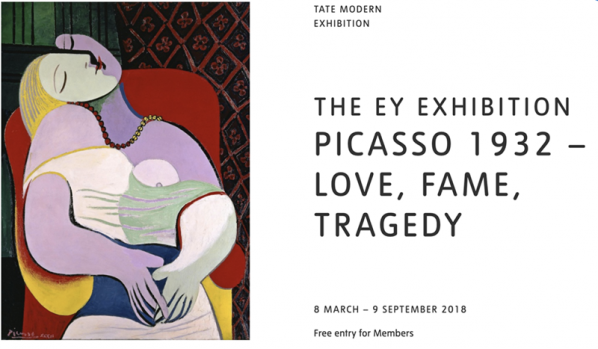 01 Picasso 1932 – Love Fame Tragedy 598x349 - Picasso Be Natural: The Journey of Pablo Picasso's Solo Exhibitions in China