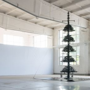 Wu Daxin, Seven-Storeyed Pagoda, 2018-2019, Stainless steel gear, Motor, 560x400x400cm