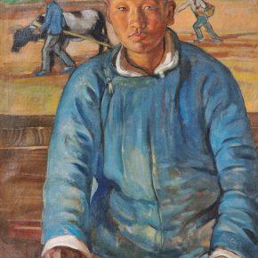 """""""Dunhuang Farmer"""" Chang Shuhong 1947"""