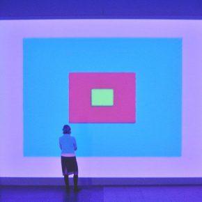 """Ann Veronica Janssens, Scrub Berlin 2, 2002, Single channel projection, 5'30"""""""