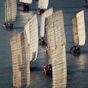 Bruno Barbey, Cross the Yangtse River by Ferry, Nanjing; Photography, 1973, 75×50cm