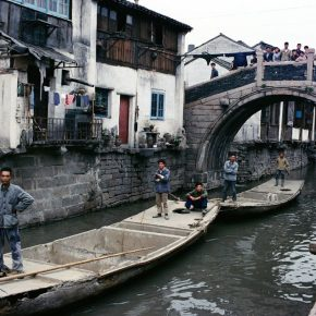 Bruno Barbey, The Canal Town at the Suburb of Shanghai; Photography, 1980, 75×110cm