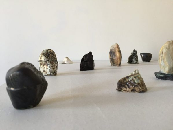 """Hilda Shen Range of Mountains 2014 2019. Glazed clay Variable dimensions ranging between 1 4 inches ©Hilda Shen courtesy of Fou Gallery 598x449 - Fou Gallery presents """"Orogenies"""" featuring artists Jisook Kim and Hilda Shen"""