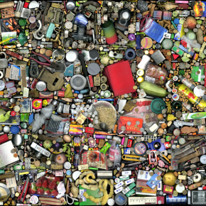 Hong Hao, My Things No. 4, 2002; Scanned Color Photograph, 60x100cm