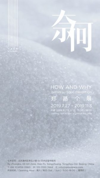 "Poster of How and Why 336x598 - Qi Mu Space presents ""How and Why: Zheng Lu Solo Exhibition"" in Beijing"