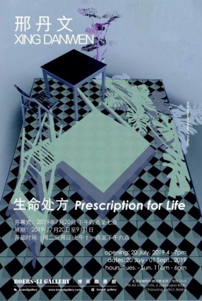 "Poster of Prescription for Life 402x598 - Boers-Li Gallery presents ""Xing Danwen: Prescription for Life"" in Beijing"