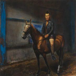 QI Xing Mr. Punk 2017 Oil on canvas 250x250cm